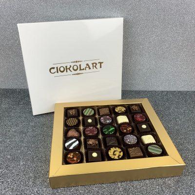 Scatola Presentazione Pearl White, 25 cioccolatini