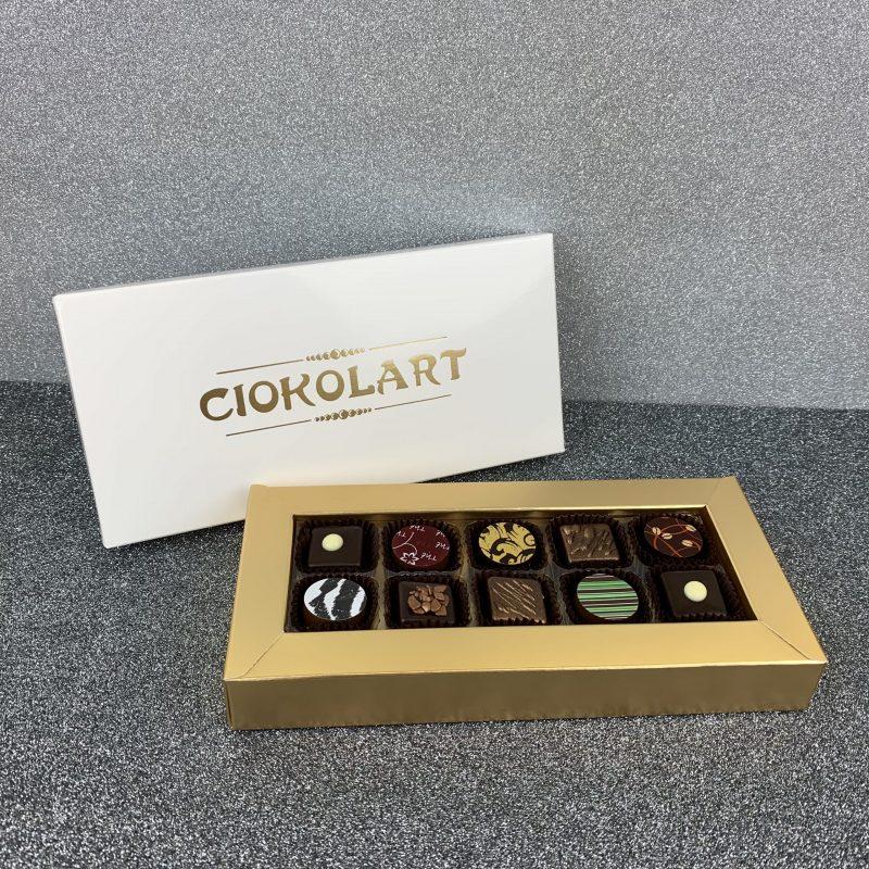Scatola Presentazione Pearl White, 10 cioccolatini